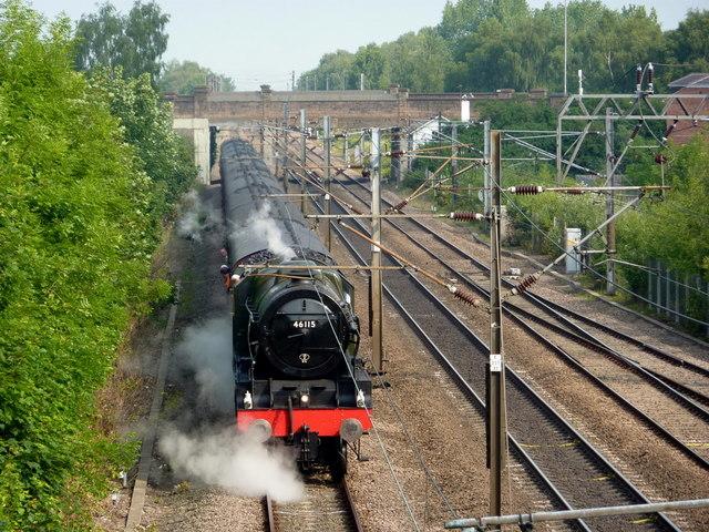 Steam train at Retford