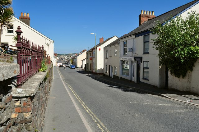 Looking down Meddon Street