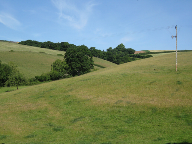 Folded hills north of Quarry Farm