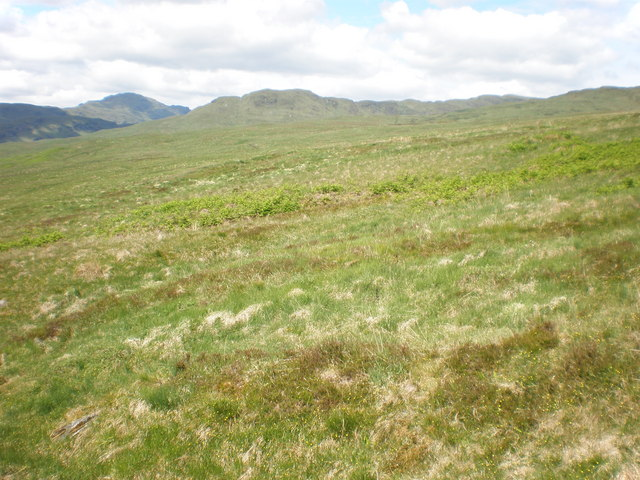 Moorland above Letter looking towards Meall Gaothach