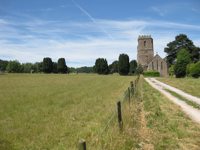 Track to St Lawrence's Church, Weston Under Penyard