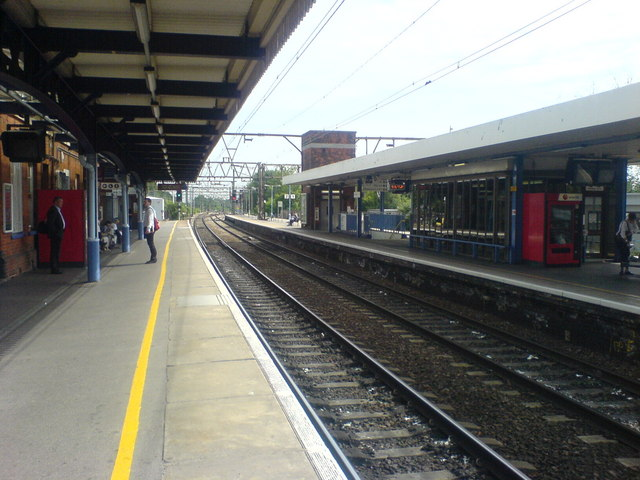 Shenfield Station, looking northeast from platform 3