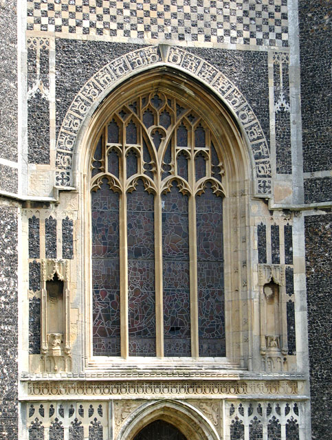St Edmund's church in Southwold - detail