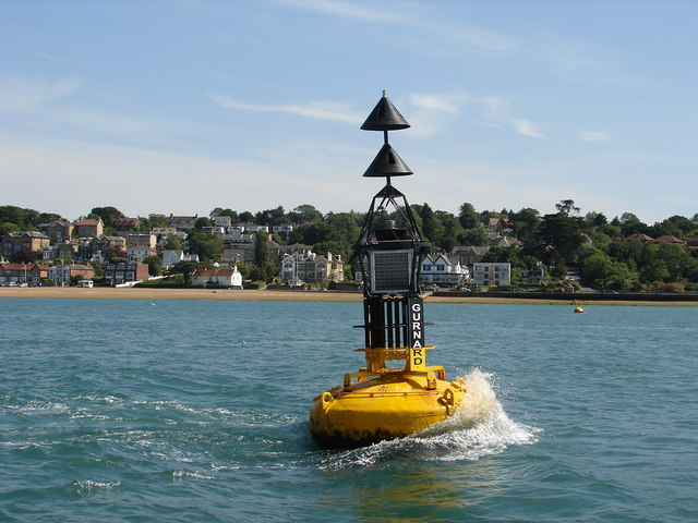 Gurnard North Cardinal Buoy and Cowes foreshore