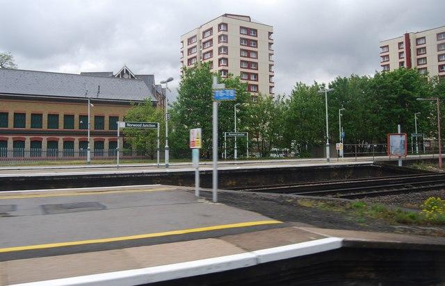 The end of the platform, Norwood Junction Station
