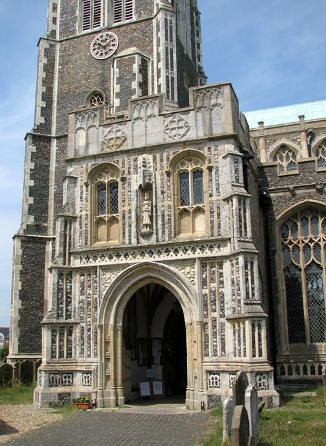 St Edmund's church in Southwold - the south porch