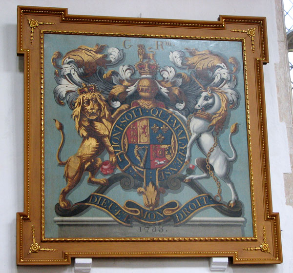 St Edmund's church in Southwold - royal arms