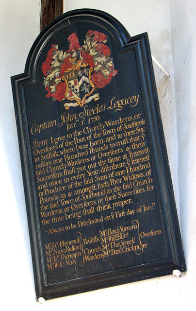 St Edmund's church in Southwold - Captain J Steele's Legacey