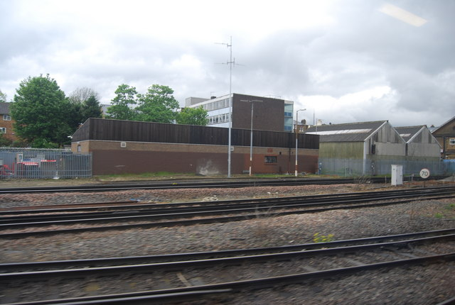Buildings by the railway south of Norwood Junction Station