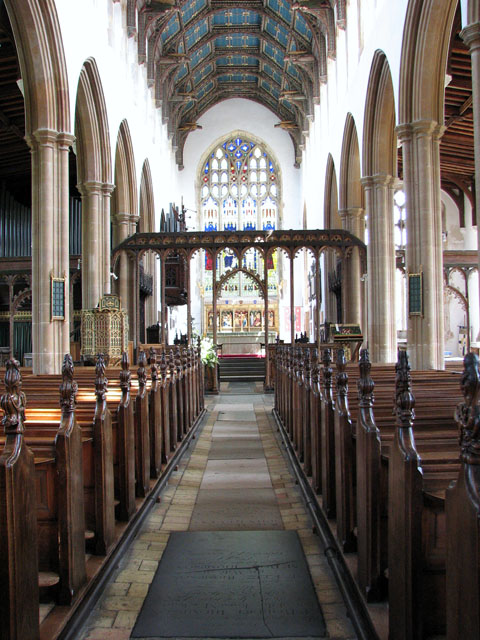 St Edmund's church in Southwold - view east