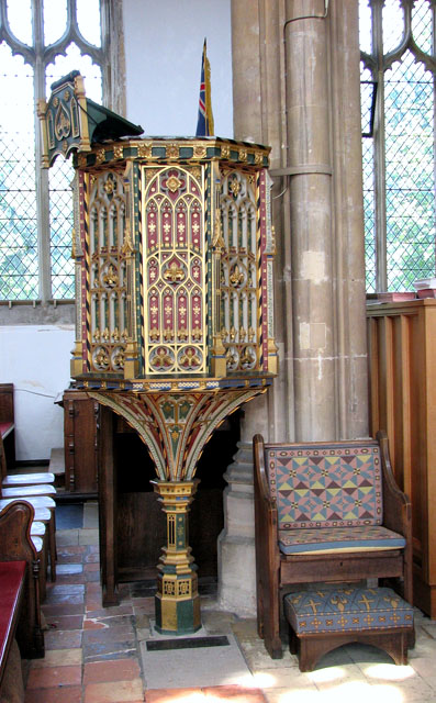 St Edmund's church in Southwold - C15 pulpit