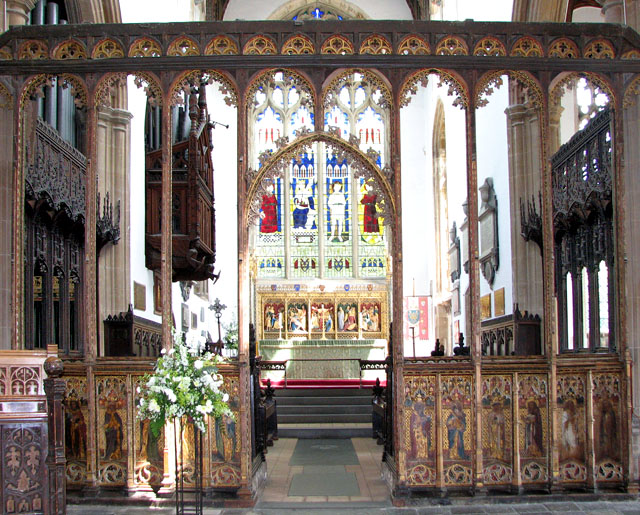 St Edmund's church in Southwold - C15 chancel screen