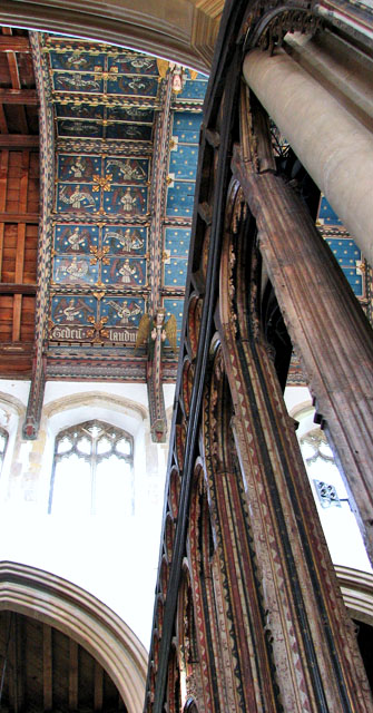 St Edmund's church in Southwold - celure above chancel screen