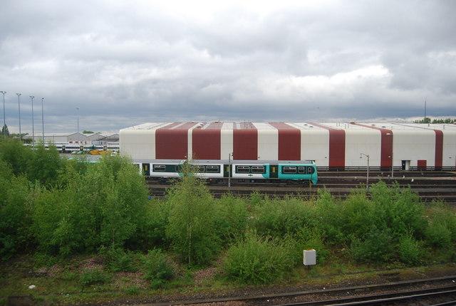 Train passing Selhurst Depot, Norwood Junction