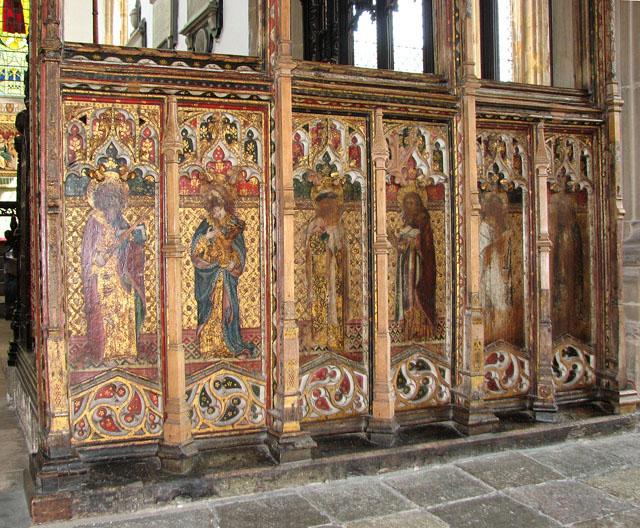 St Edmund's church in Southwold - chancel screen dado