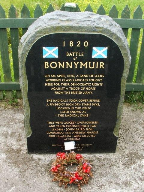 Memorial to Battle of Bonnymuir