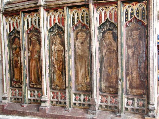 St Edmund's church in Southwold - parclose screen dado