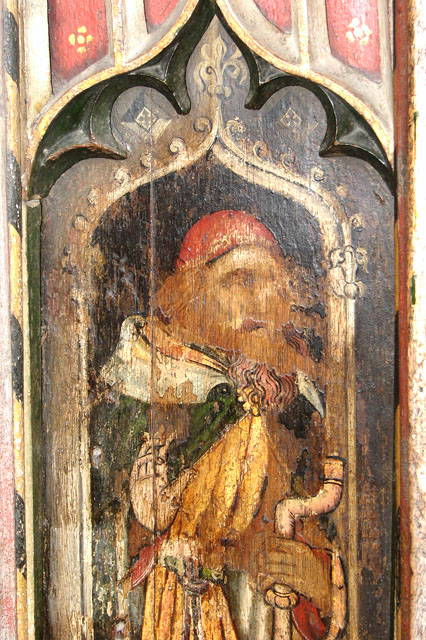 St Edmund's church in Southwold - parclose screen panel (detail)