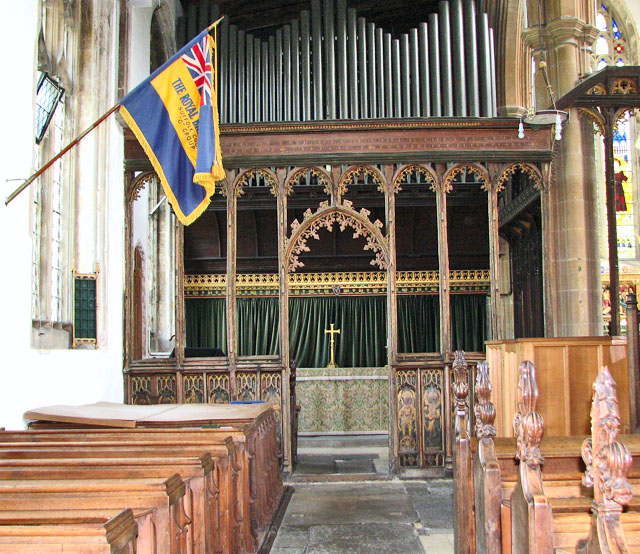 St Edmund's church in Southwold - north aisle screen