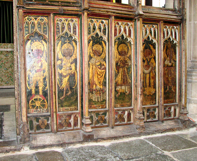 St Edmund's church in Southwold - north aisle screen dado