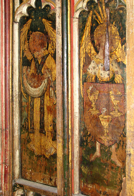 St Edmund's church in Southwold - north aisle screen panels