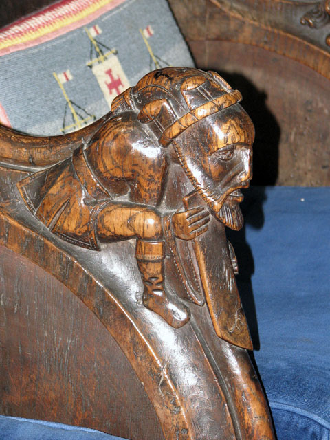 St Edmund's church in Southwold - C15 elbow rest