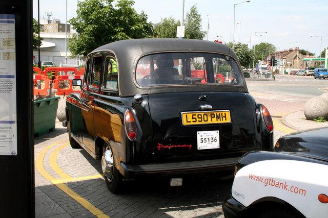 'Fairway' taxi at Tottenham Hale.
