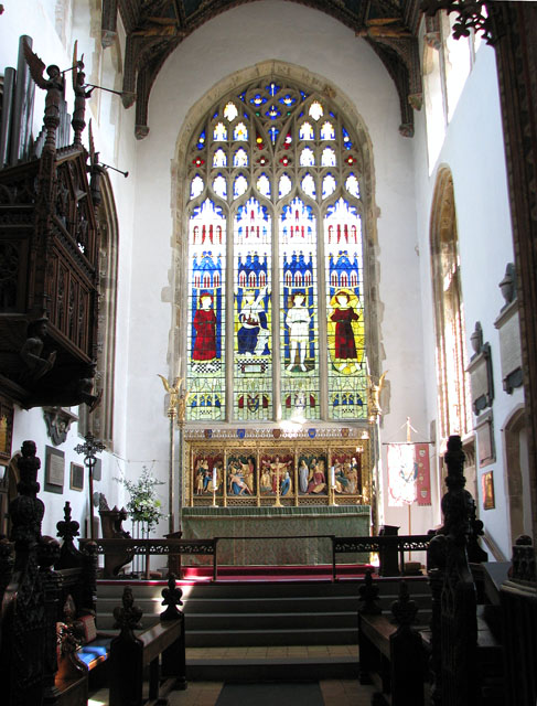 St Edmund's church in Southwold - the chancel