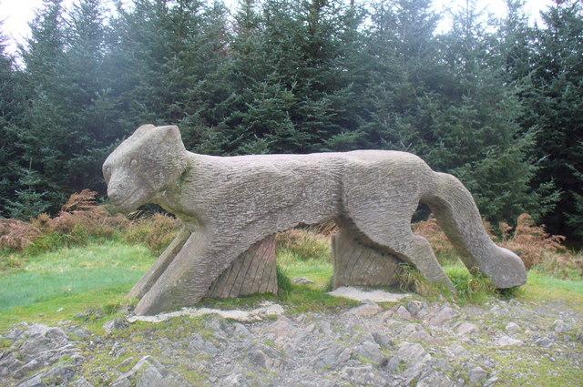 Fox Sculpture in Grizedale