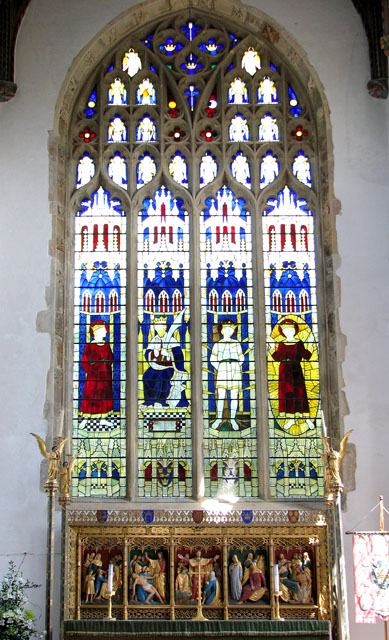 St Edmund's church in Southwold - east window