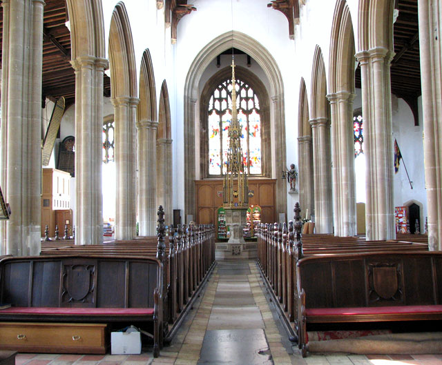 St Edmund's church in Southwold - view west