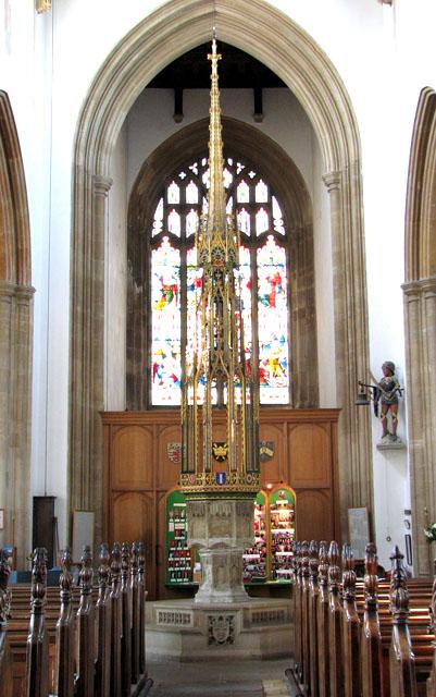 St Edmund's church in Southwold - C15 baptismal font