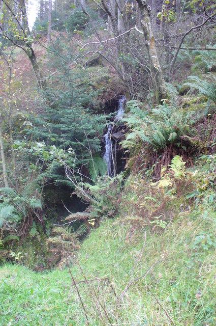 Small Waterfall in Bogle Crag Wood