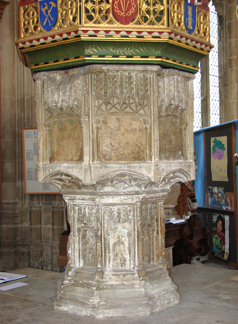 St Edmund's church in Southwold - C15 baptismal font