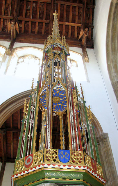 St Edmund's church in Southwold - font cover