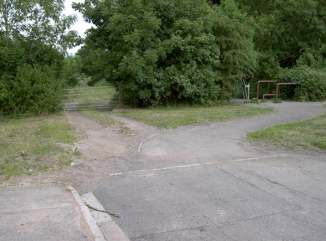 End of the road, start of the footpath