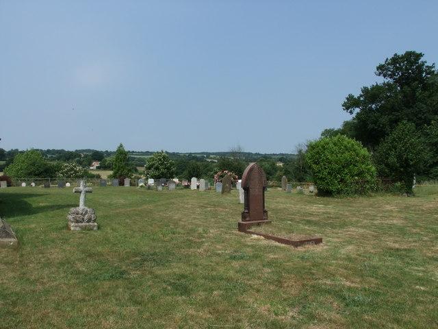 Graveyard at St John the Baptist Church, Mount Bures