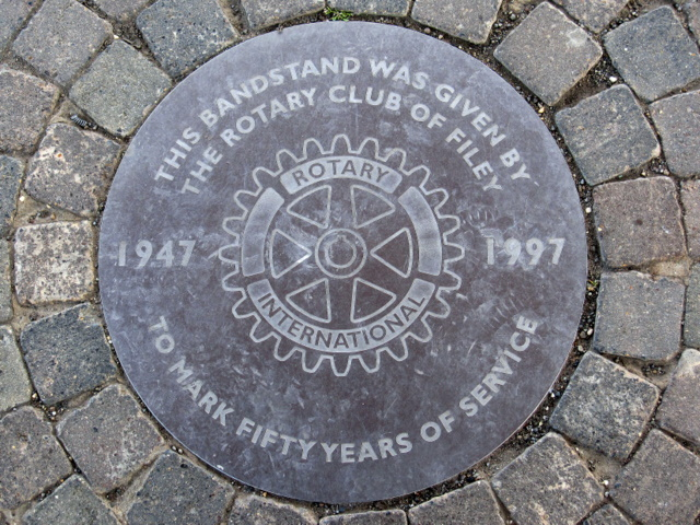Plaque in the floor of the Crescent Gardens bandstand
