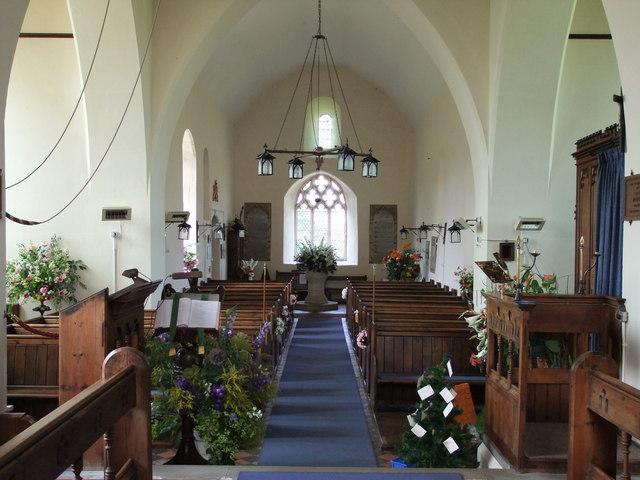 Interior of St John the Baptist Church, Mount Bures