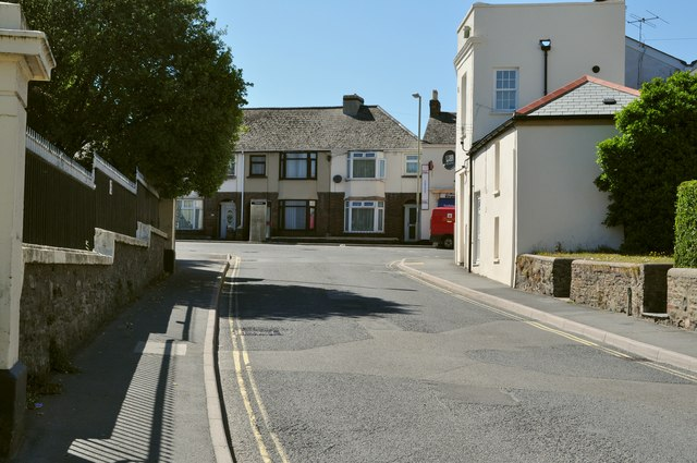 Meddon Street at the junction with Old Town and Clovelly Road