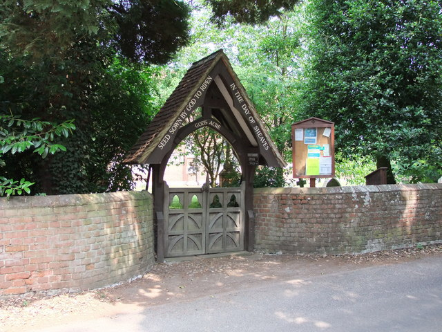 Lych gate at The Church of St John the Evangelist, Twinstead