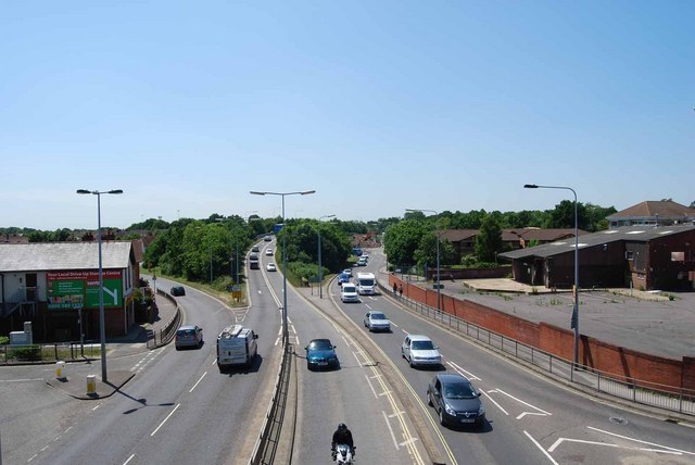 The view south-southwest from the Gosport Road footbridge