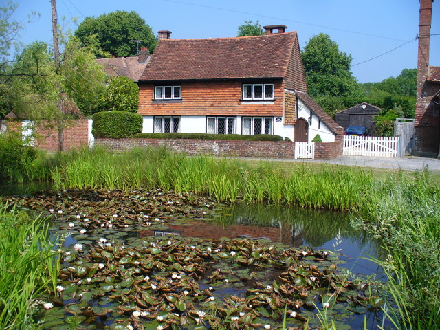 Cottage and Pond, Dunsfold