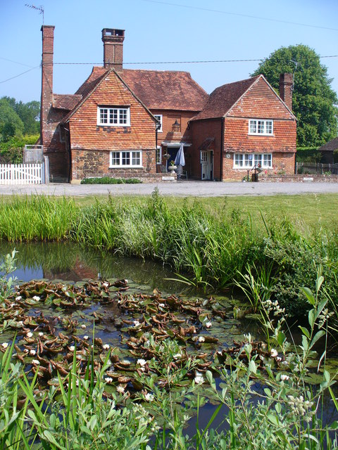 Old Cottage and Pond, Dunsfold