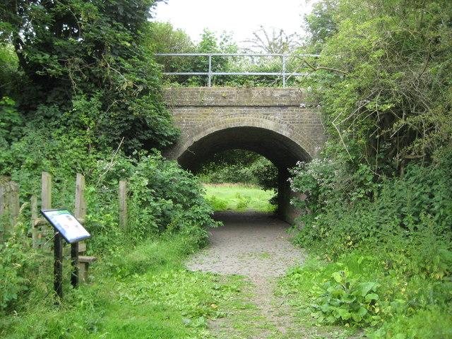 Staines Moor: Former railway bridge