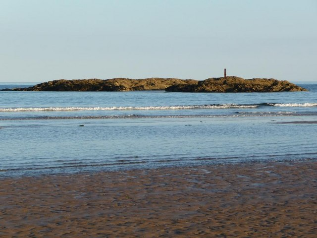 Murray's Rock at low tide