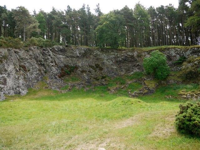 Flodden Quarry (upper face)
