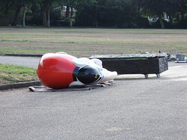 A fallen Hero at London's Elephant Parade