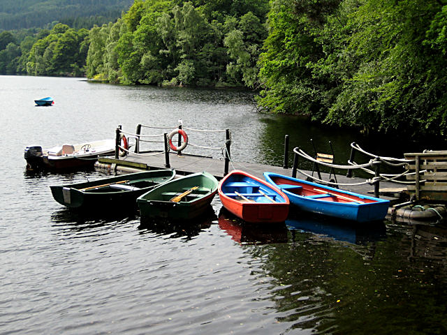 Boating station in summer