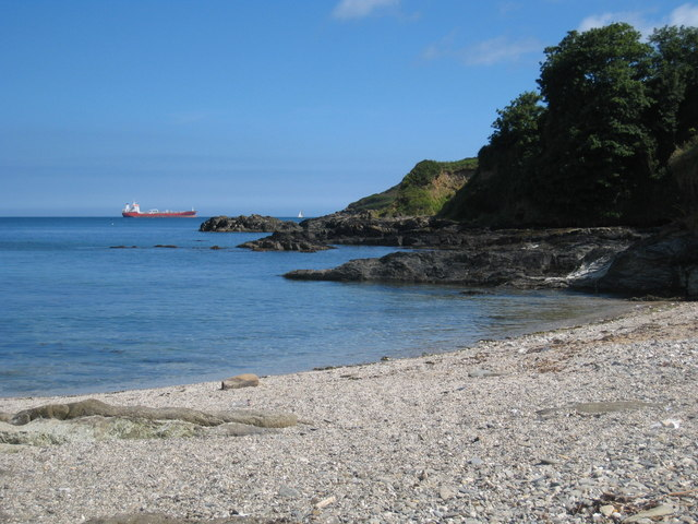 The beach at the east end of Bream Cove